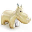 Zuny Classic Collection Gold/Blue/Grey Hippo Bookend