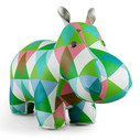 Zuny Classic Hippo Kaleidoscope Diamond - Green/Blue/White
