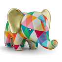 Zuny Classic Elephant Kaleidoscope Diamond - Red/Orange/Green