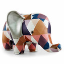 Zuny Classic Elephant Kaleidoscope Diamond - Tan/Blue/White