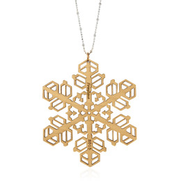 2016 limited edition snowflake pendant in maple