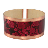 Scarlet wood copper cuff bracelet
