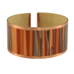Fiamma wood copper cuff bracelet