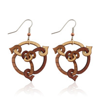 Trystan Earring in Maple, Cherry, Madrone