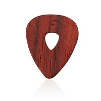 Wooden Guitar Pick in Burmese Coralwood