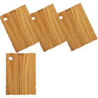 Forestique Natural edge wooden serving board - set of 4- in Red Oak