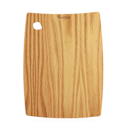Barrel edge wooden cutting board in Red Oak