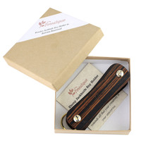 Wooden Jackknife Keyholder in gift packaging