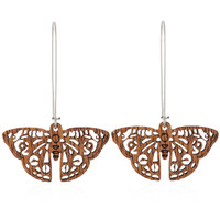 Junonia Wooden Earring in African Mahogany