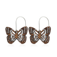 Diana Wooden Earring small in African Mahogany
