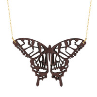 Swallowtail Wooden Pendant in Purpleheart