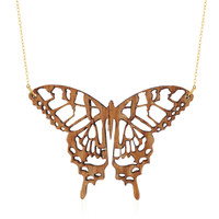 Swallowtail Wooden Pendant in Lacewood