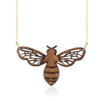 Honeybee Wooden Pendant in Aspen