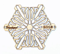 2018 Forestique wooden snowflake in maple