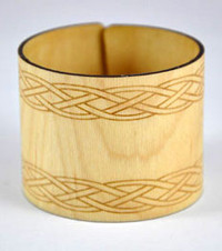 Riley- Maple Engraved Wood Cuff Bracelet
