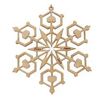 2016 limited edition snowflake ornament in maple