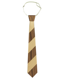 "3"" Necktie 2""stripe in Maple and Walnut"
