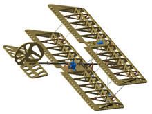 Repair your MicroSSX Biplane fuselage with parts most commonly broken in a crash.