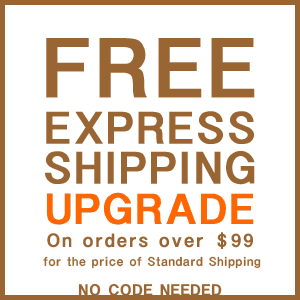 Free express shipping upgrade on orders over $99