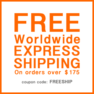 Free worldwide shipping on orders over $175USD