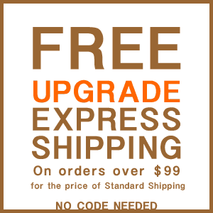 Free upgrade to express shipping on orders over $99