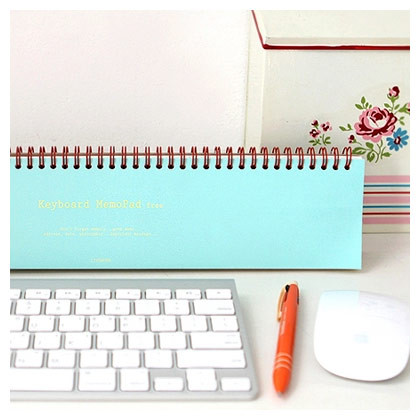 Keyboard grid memo pad