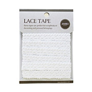 Adhesive cotton lace tape M white - 07