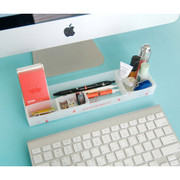 Desk storage organizer tray