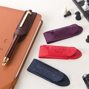 Synthetic leather magnet pen holder classic
