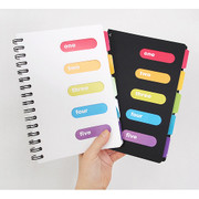 Small wirebound lined notebook with color index tab ver.2