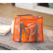 Orange - Travelus medium mesh pouch handbag ver.2