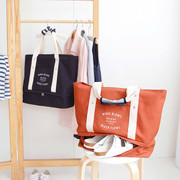 Travel large tote bag with bottom compartment