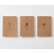 Thread stitching kraft nature lined notebook small