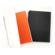 Modern wirebound drawing notebook