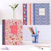 In the full bloom flowery lined notebook large