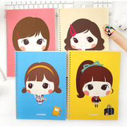 cute girl plain notebook