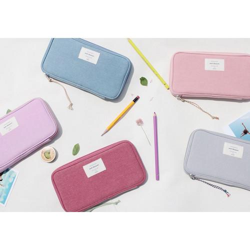 Donbook Wish blossom mind zip around pencil pouch ...