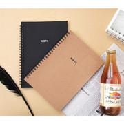 Modern wirebound small lined notebook