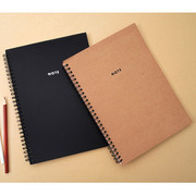 Modern wirebound lined notebook