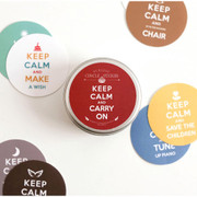 Keep calm and carry on circle sticker set