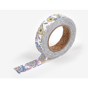 fabric tape single - Girl flower for you