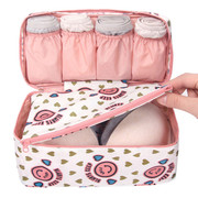 Pattern travel pouch bag for underwear and bra
