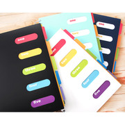 Jumbo wirebound lined notebook with color index tab