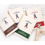 Wirebound london perforated lined notebook