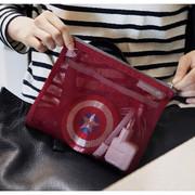 Burgundy - Travelus Medium slim mesh pouch ver.3