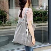 Light gray bucket eco drawstring tote bag