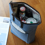 Blue - Holiday insulated bottle snack holder pouch
