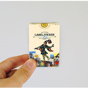 Vintage tarot label paper sticker set