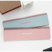 Desk wirebound dated planner