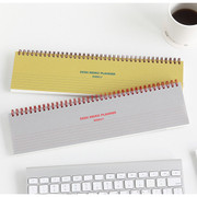 Desk wirebound undated weekly planner
